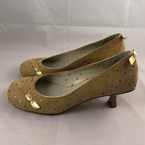 Materia Prima Shoes - Materia Prima Suede Pump with Metallic bows